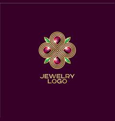 jewelry logo vector image