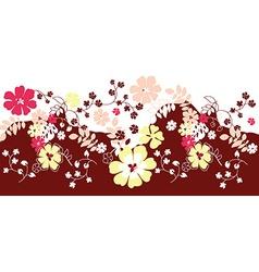 Paisley mehndi floral design vector image