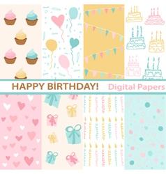 Set of Birthday vector image vector image