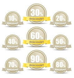 Shopping discount labels collection vector image vector image
