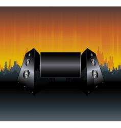 urban speakers billboard design vector image
