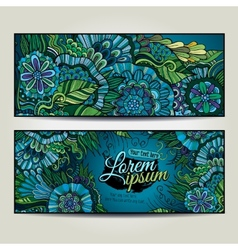 Abstract decorative floral backgrounds vector