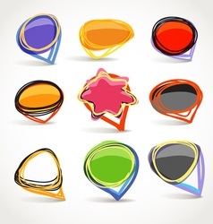 Abstract talking bubble set vector image