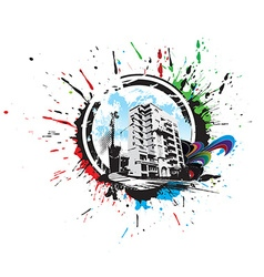 Abstract urban city vector image