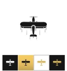 Airplane logo or flight travel tourism icon vector