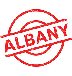 Albany rubber stamp vector image
