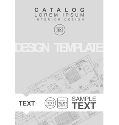 Architectural Flyer Or Cover Template vector image