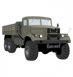 Army truck vector