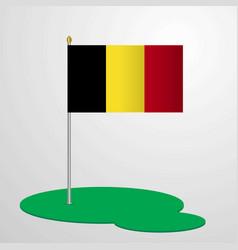 Belgium flag pole vector