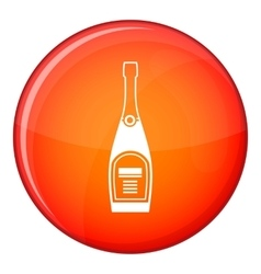 Bottle of champagne icon flat style vector