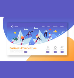Business challenge concept landing page template vector
