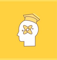 Capability head human knowledge skill flat line vector