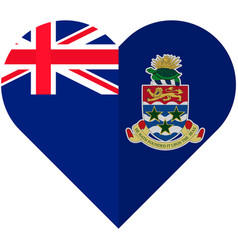 Cayman islands heart flag vector