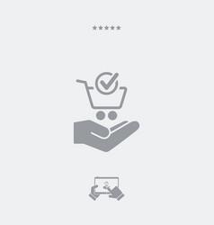 Check shop - minimal modern icon vector