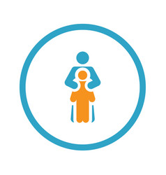child life protection icon flat design vector image