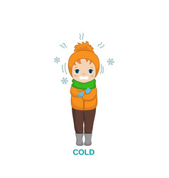 Cold weather boy vector
