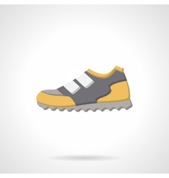 Colored sport sneaker flat icon vector