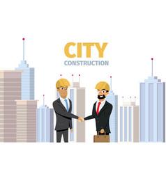 concept modern city construction building vector image
