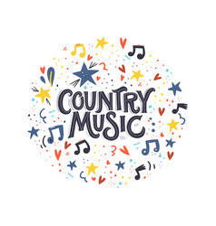 Country music lettering vector