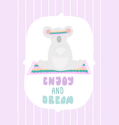 cute postcard with lettering enjoy and dream vector image
