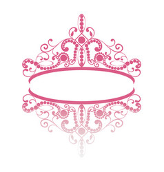 Diadem elegance feminine tiara with reflection vector