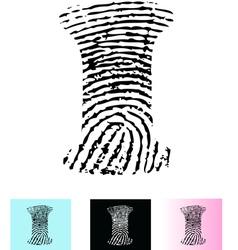 Fingerprint Alphabet Letter I vector