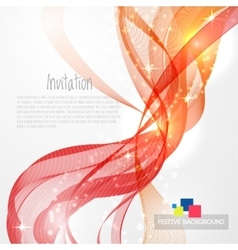 Flamy modern abstract lines vector image