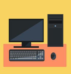 flat person computer design icon vector image