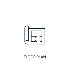 floor plan concept line icon simple element vector image