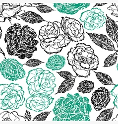 Flower seamless rose grunge vector