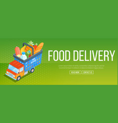 Food delivery service banner vector