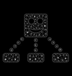glowing mesh carcass smile relations diagram with vector image