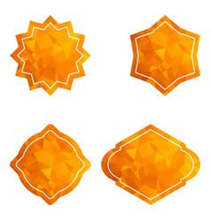golden star tag set vector image