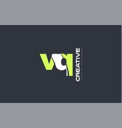 green letter vq v q combination logo icon company vector image