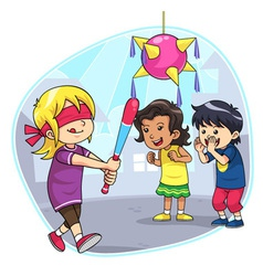 Hit The Pinata vector image