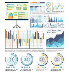 infographics and schemes whiteboard presentation vector image