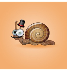 Isolated funny male snail vector image