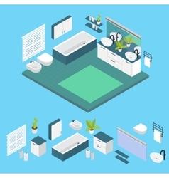 Isometric Bathroom Layout vector image
