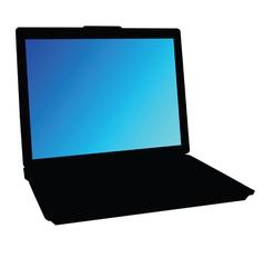 laptop color vector image