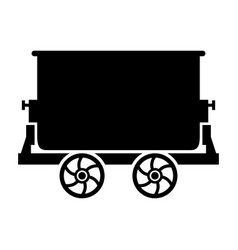 Mine trolley vector