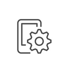 mobile settings line icon vector image
