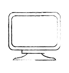 monitor screen computer equipment technology vector image vector image