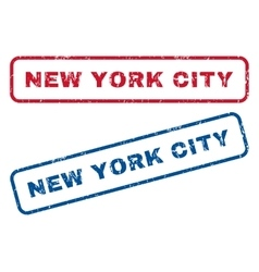 New York City Rubber Stamps vector