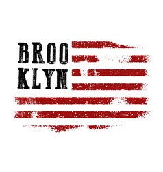 new york typography shirt design vector image