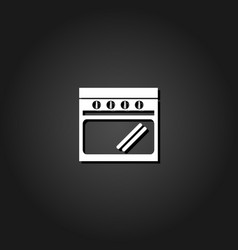 Oven icon flat vector