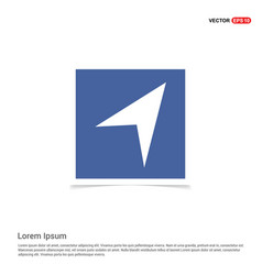 paper plane icon - blue photo frame vector image