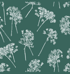 Pattern of the umbrella plants inflorescence vector