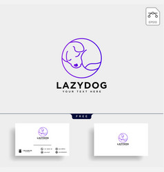 pet animals care consulting logo template vector image