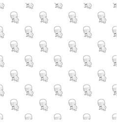 protecting player pattern seamless vector image