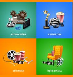 realistic cinema design concept vector image